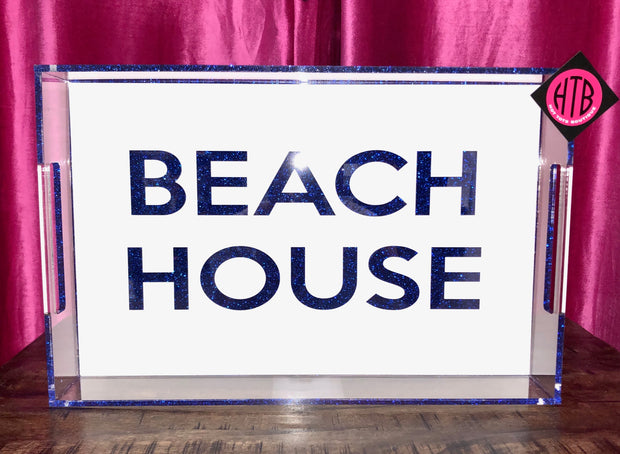 14 x 22 BEACH HOUSE Tray