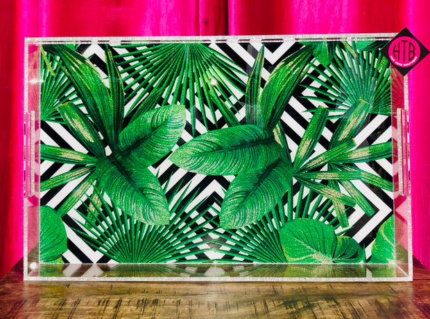 14 x 22 Geometric Leaf Tray