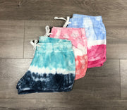 Two-Tone Tie Dyed Shorts