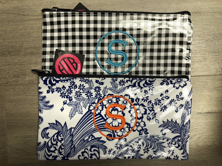 Medium Flat Oilcloth Pouch