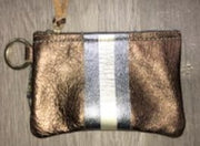 Kara Leather Credit Card Case + Stripe or Icon Keyring