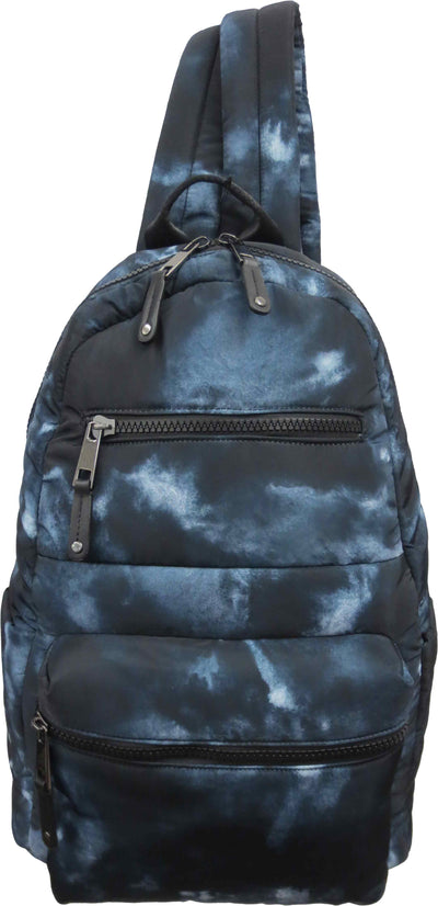 Tie Dye Quilted Nylon Backpack