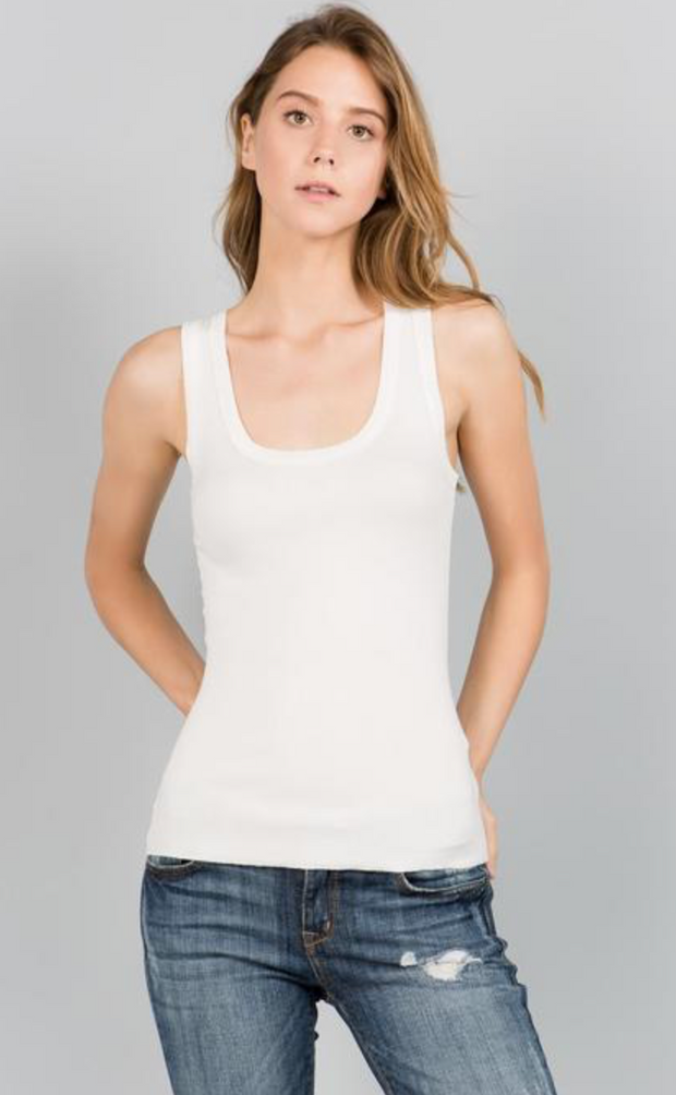 Short Scoop Neck Tank