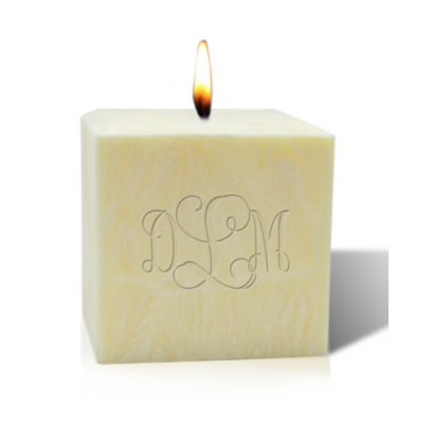 "4"" Palm Wax Initial Candle"