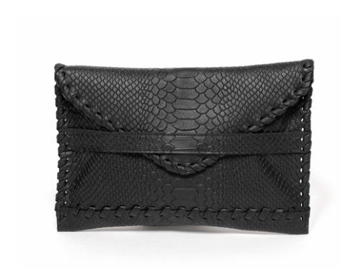 Polka Envelope Clutch