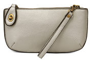 Vegan Crossbody/Wristlet with Buckle Closure