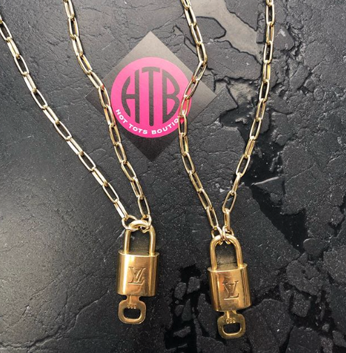 LV Lock Necklace