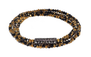 Multi Beaded With Bar Stretch Bracelets