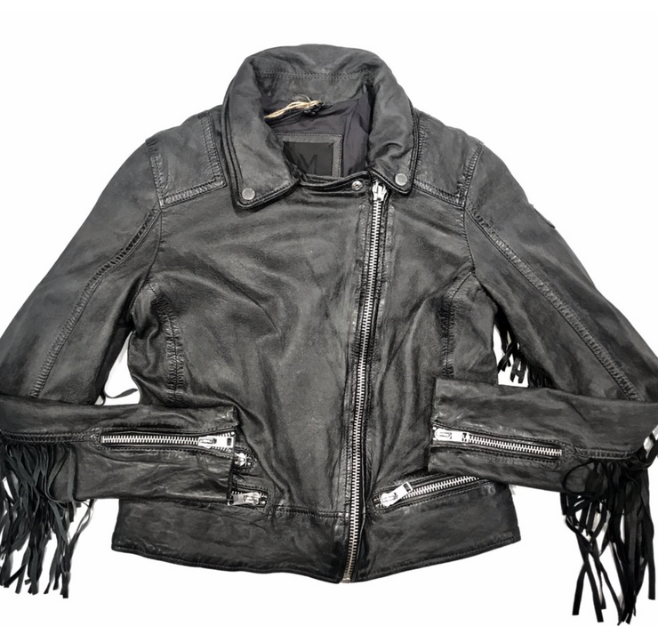 Leather Jacket Distressed