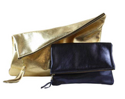 Adeline Leather Foldover Clutch