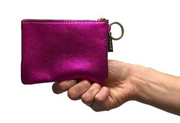 Kara Plain Leather Credit Card Case