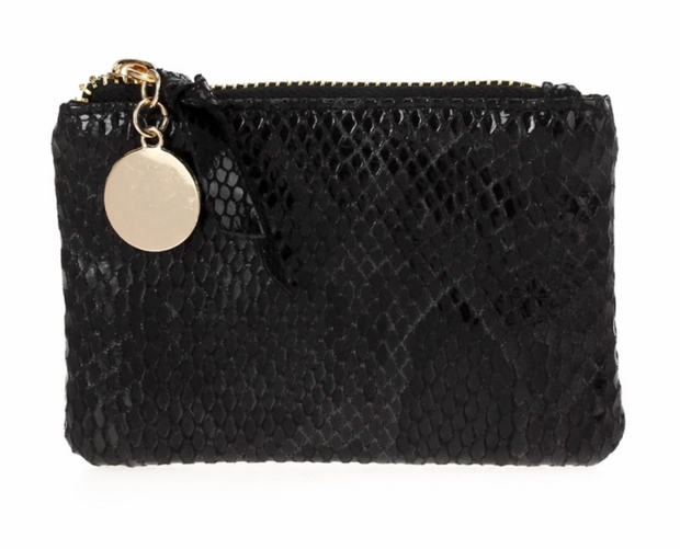 Chain Zip Card/Coin Case