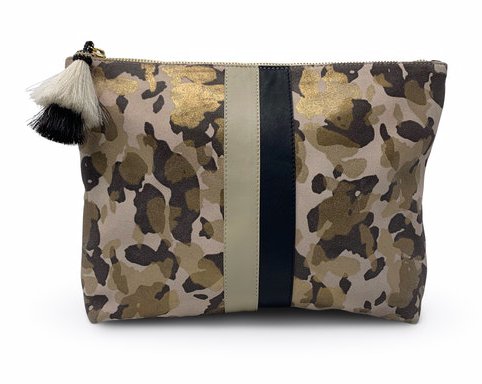 Kempton & Co. Blush Camo Suede Pouch