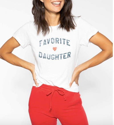 Favorite Daughter Fitted Tee White