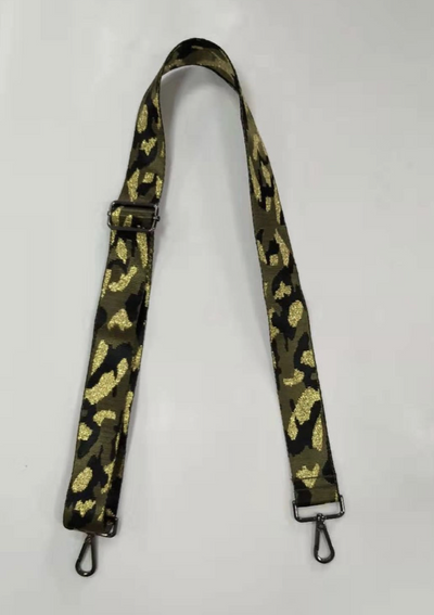 Green/Gold Camo Guitar Strap