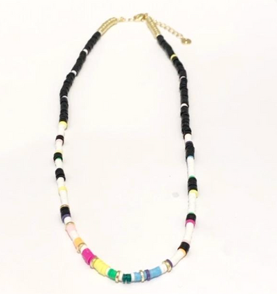 Seaside Skinny Necklace - Black Rainbow