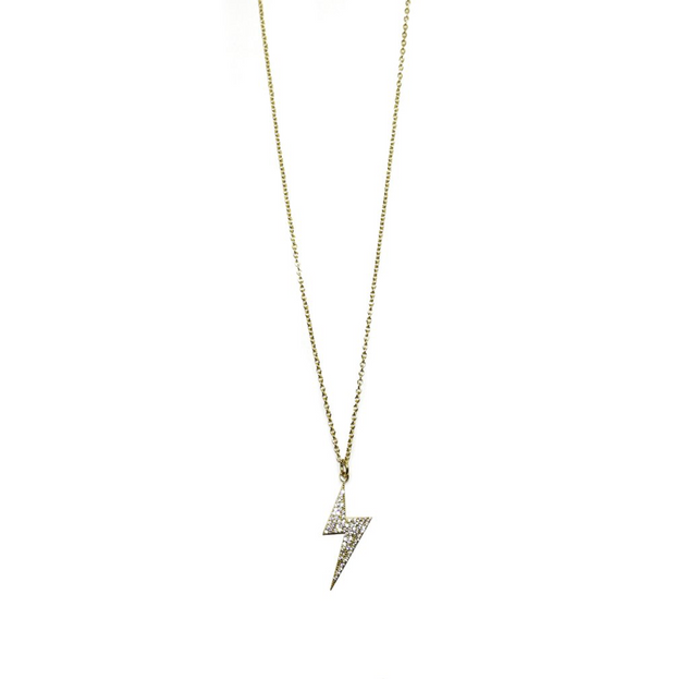 Sterling Bolt Necklace
