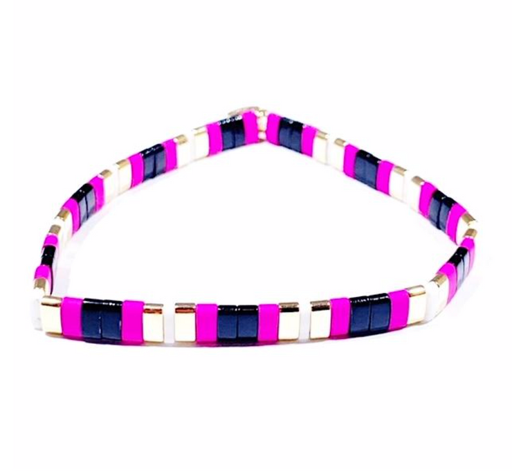 Supernova Bracelet Black/Hot Pink/Gold
