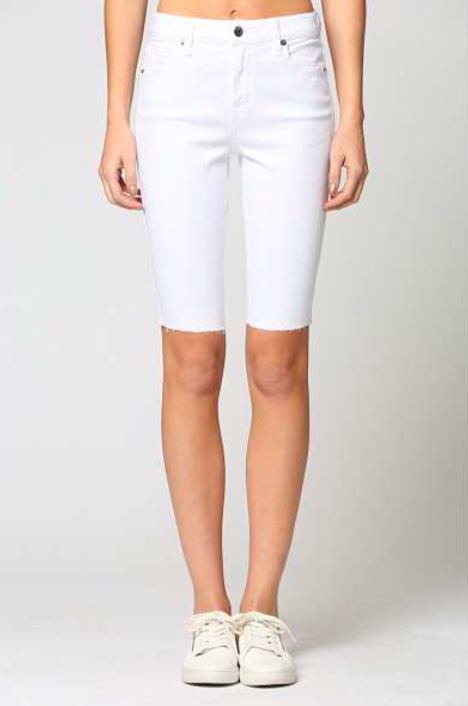 White Cycle Short
