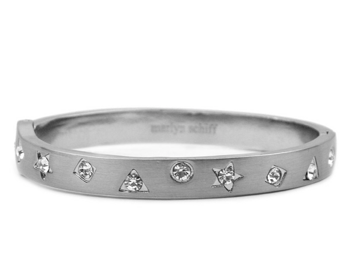 Multi Shape Metal Hinge Bangle