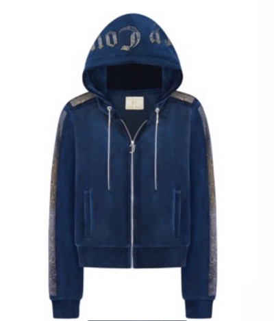 JUICY COUTURE Zip Hoodie/Stripe
