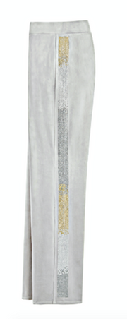 JUICY COUTURE Velour Pants/Side Stripe
