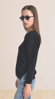 Ruched Long Sleeve Sweater