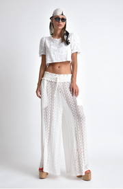 Valentino Stretchy Lace Pants/Cover Up