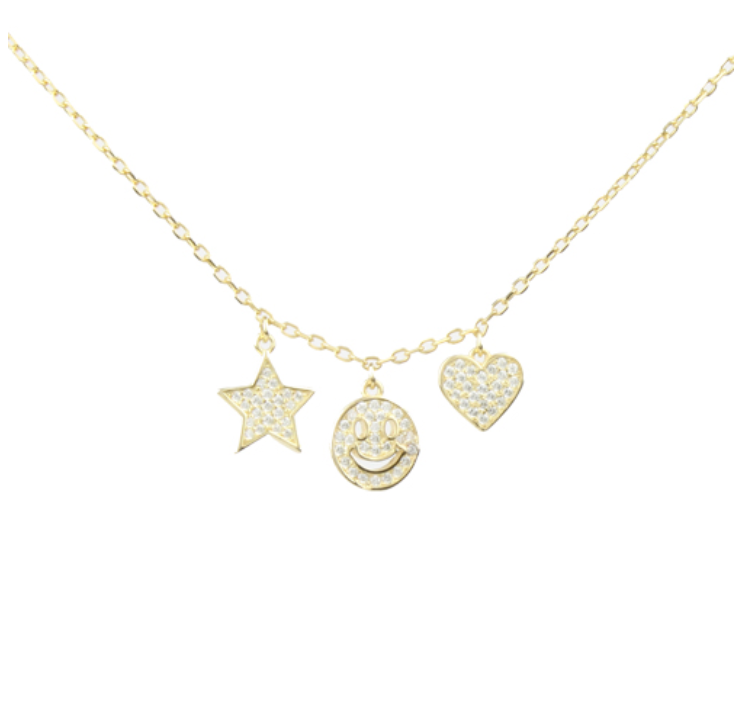 Peace & Love Charm Necklace