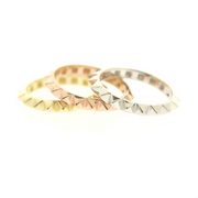 Tricolor Spike Ring