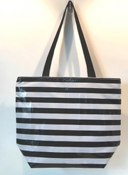SJ L personalized Zip tote