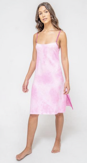 Pitusa Tie Dye Mini Slip Dress
