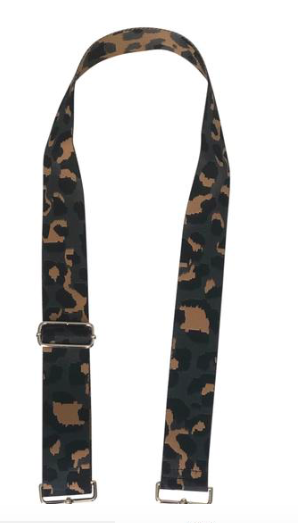Grey Leopard Guitar Strap