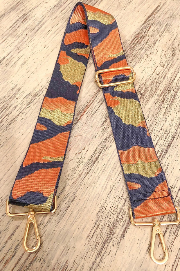 Blue/Orange Camo Guitar Strap