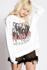 Def Leppard Heartbreak Sweatshirt- White