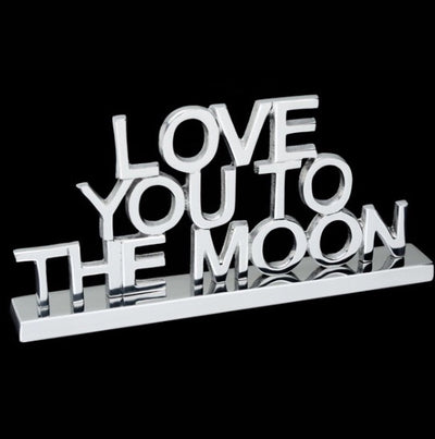 Love You To The Moon Decorative Sign