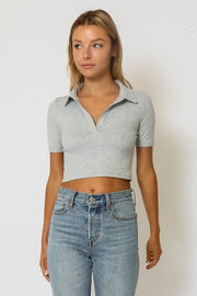 Collared Cropped Tee