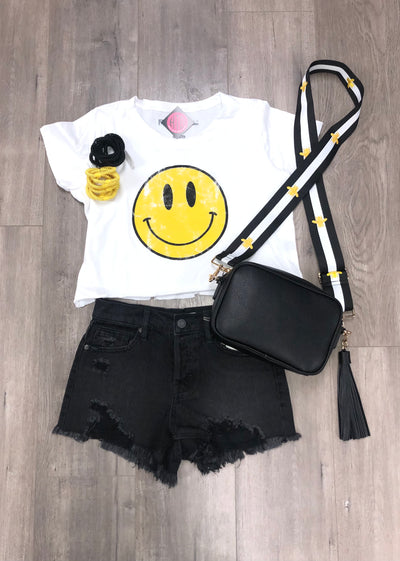 Happy Face Cropped Tee