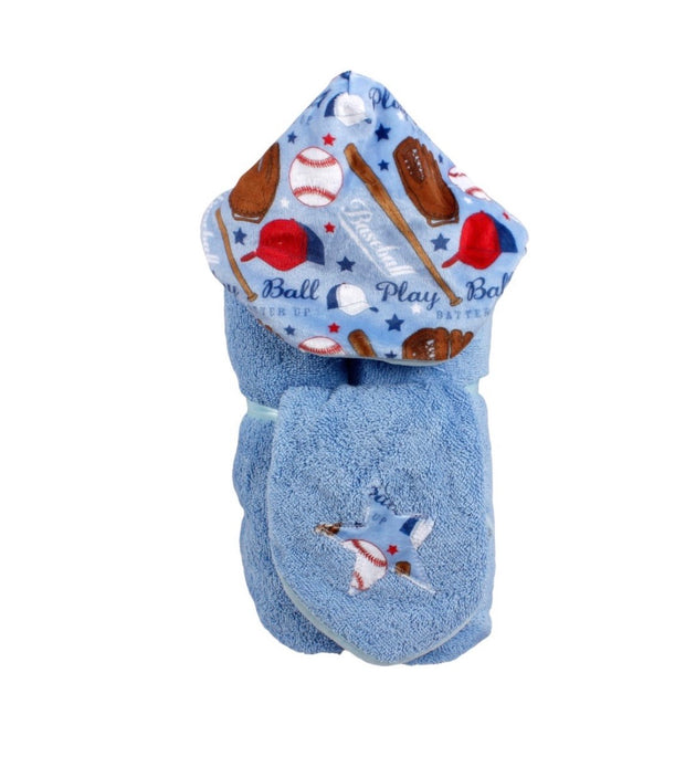 Tickle Toes Baby Hooded Towel with Washcloth