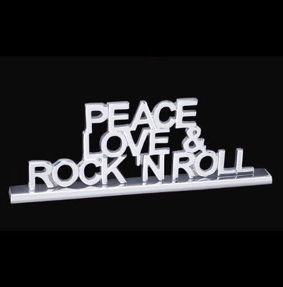 Peace, Love & Rock N Roll Decorative Sign