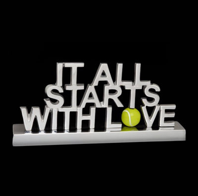 It All Starts with Love Decorative Sign
