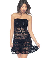 PQ Lace Tube Dress/Cover Up