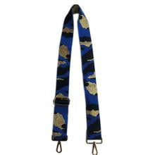 Black/Royal/Gold Camo Guitar Strap