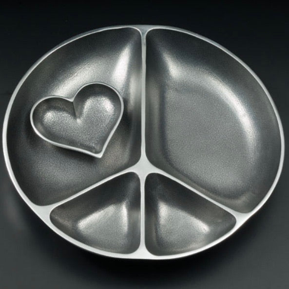 Peace/Heart Serving Dish