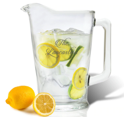 Personalized Glass Pitcher