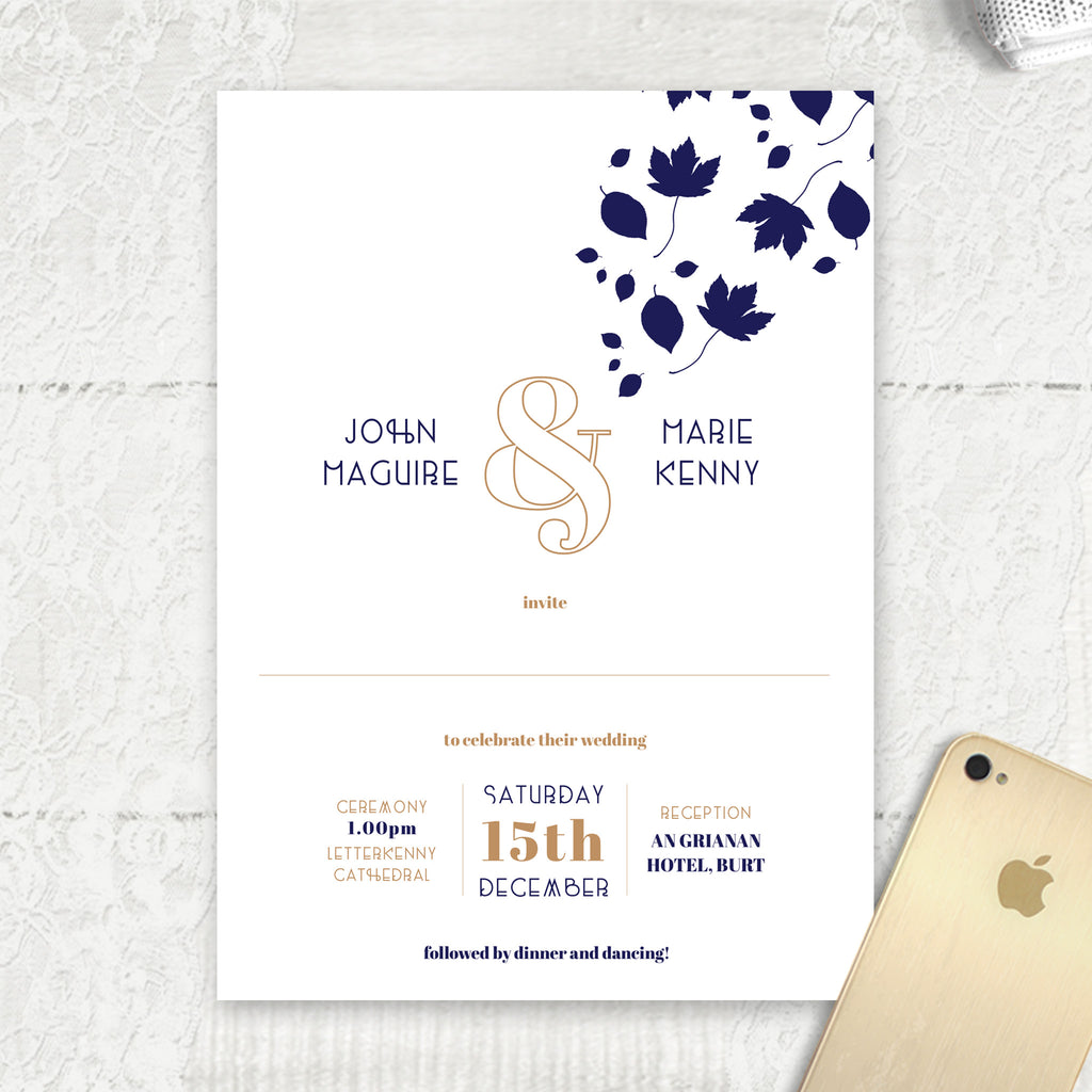 Autumn Wedding Invites
