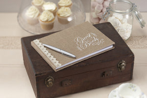 Hessian Guest Book - Rustic Guestbook ideas