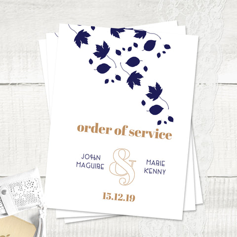 Autumn Leaves - Order Of Service