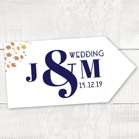 Wedding Road Signs, directional wedding signs