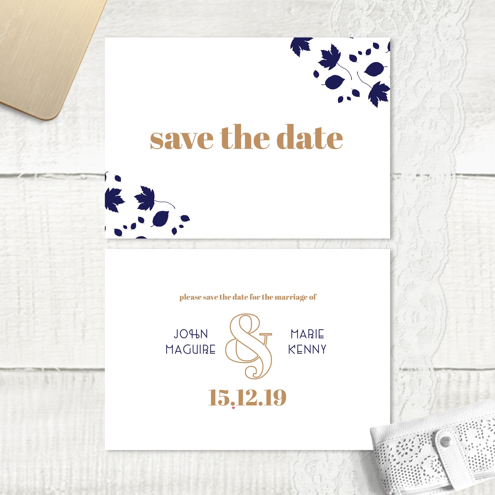 Autumn Leaves - Save the Date